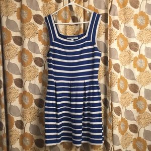 Max Studio fit and flare nautical dress